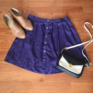 Xhilaration Navy Button Down Skirt- Size Large